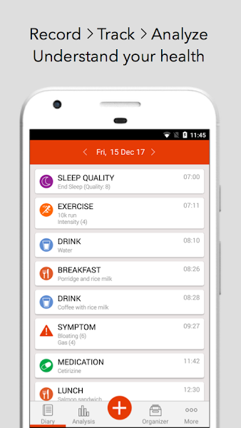 mySymptoms Food Diary & Symptom Tracker (Lite)