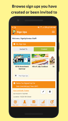SignUpGenius App for iOS and Android Free Download