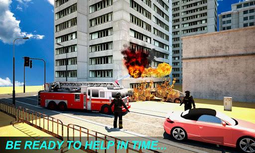 Télécharger gratuit Fire Truck Emergency Rescue APK MOD 2