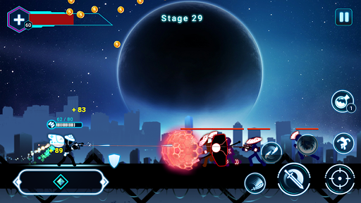 Stickman Ghost 2: Galaxy Wars - Shadow Action RPG 6.6 screenshots 6