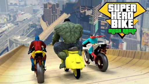 super hero bike mega ramp - racing simulator screenshot 2