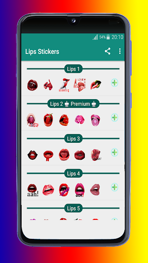 lips and love stickers 2020 - wastickerapps screenshot 1