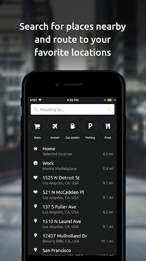 HUDWAY Go u2014 GPS Navigation & Maps with HUD  Screenshots 4