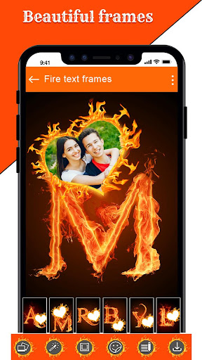 Fire Text Photo Frame u2013 New Fire Photo Editor 2020 1.43 Screenshots 22