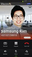 screenshot of Samsung WE VoIP
