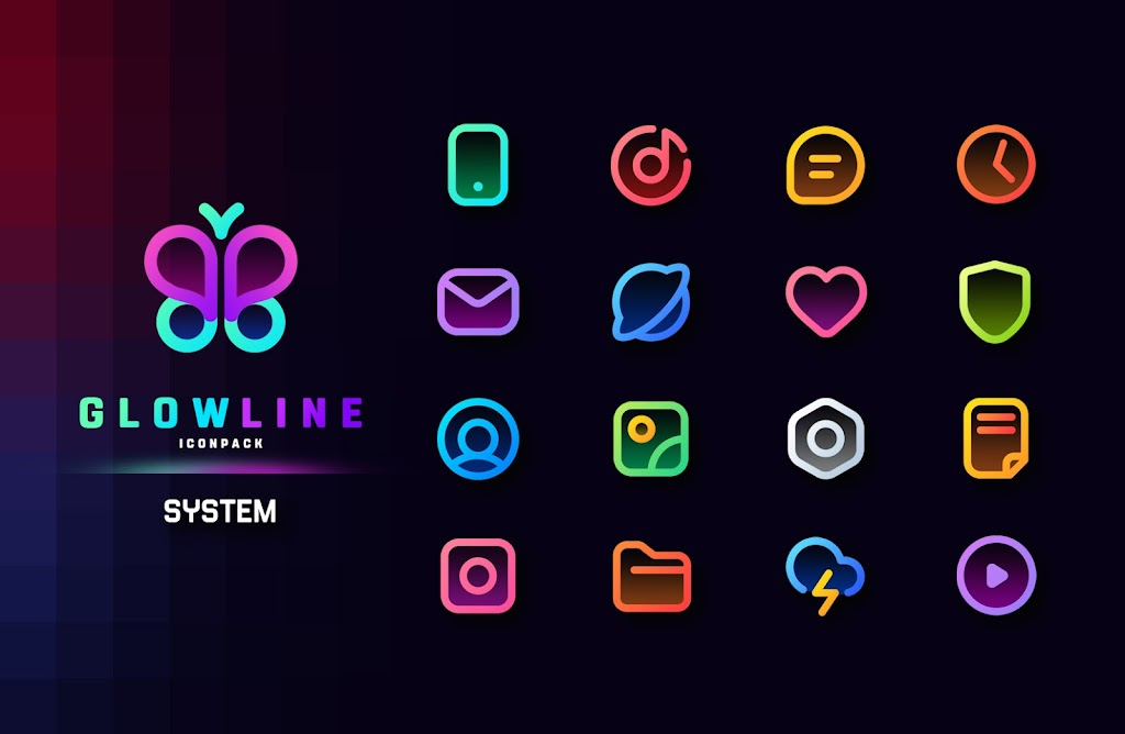 GlowLine Icon Pack  poster 1