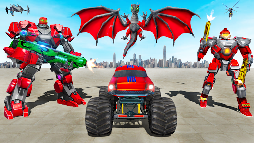 Monster Truck Robot Wars u2013 New Dragon Robot Game 1.0.7 screenshots 15