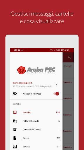 Aruba PEC Mobile apktram screenshots 2