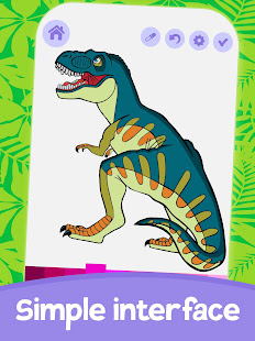 Cute Animated Dinosaur Coloring Pages 5.0 screenshots 2