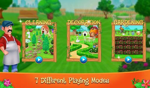 Code Triche Décoration de jardin et jeu de nettoyage (Astuce) APK MOD screenshots 1