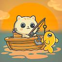 私の魚釣りにゃんこのゲーム-釣りゲーム