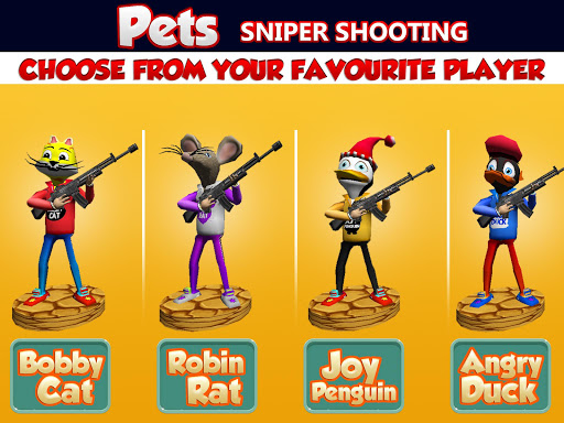 Shooting Pets Sniper - 3D Pixel Gun games for Kids screenshots 10