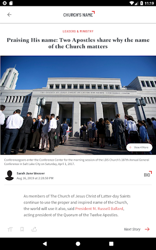 Foto do Church News
