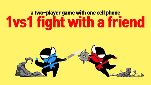 Jumping Ninja Battle - Two Player battle Action 3.98 screenshots 7