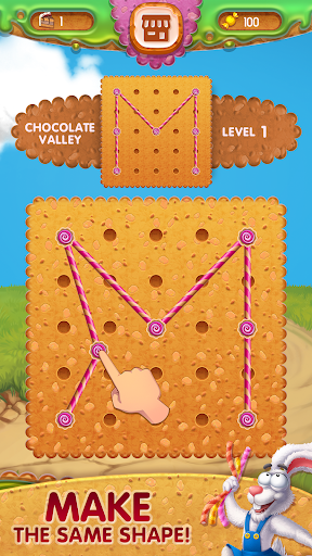 Toffee : Line Puzzle Game. Free Rope Shapes Game screenshots 1