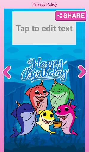 Little Shark Invitation Maker Baby Party 2.0 screenshots 5
