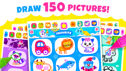 Bini Toddler Drawing Apps! Coloring Games for Kids  screenshots 1