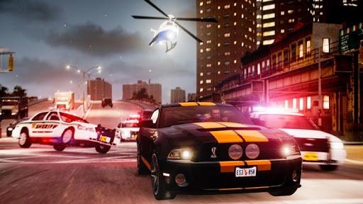 Police Cop Chase Racing: City Crime android2mod screenshots 2
