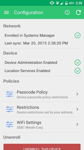 Meraki Systems Manager android2mod screenshots 6