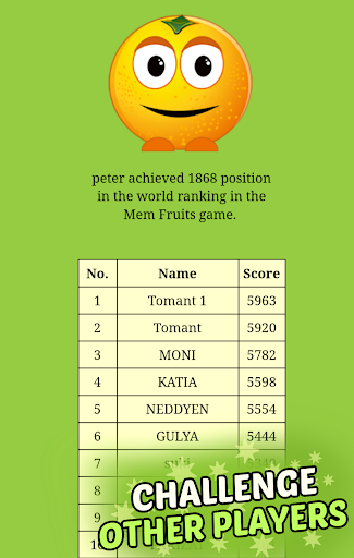 Mem Fruits: find pairs, concentration  screenshots 4