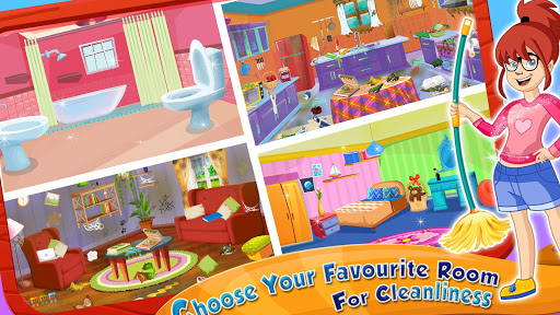 Girl House Cleaning: Messy Home Cleanup screenshots 17