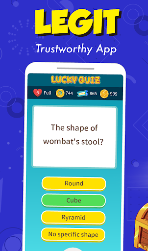 Trivia game & 30k+ quizzes, free play - Lucky Quiz modavailable screenshots 4