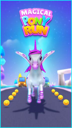 Magical Pony Run - Unicorn Runner apkpoly screenshots 15