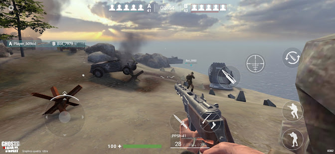 Ghosts of War: WW2 Shooting game Army D-Day [v0.2.10] APK Mod for Android logo