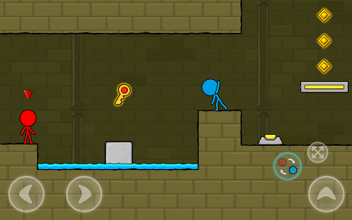 Red and Blue Stickman : Animation Parkour 1.0.6 screenshots 10
