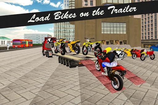 Bike Transport Truck 3D  screenshots 1