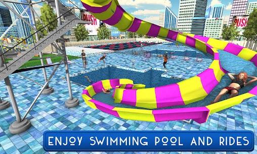 Swimming Pool Summer Fun: Waterslides Adventure 1.7 Latest MOD Updated 1