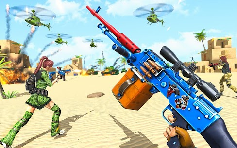 Real Commando Shooting Strike Mod Apk (God Mode/Dumb Enemy) 7