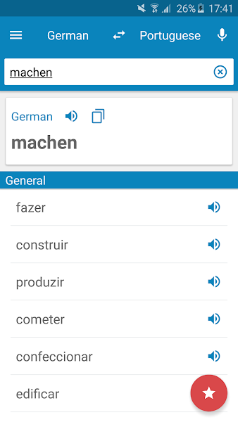 German-Portuguese Dictionary