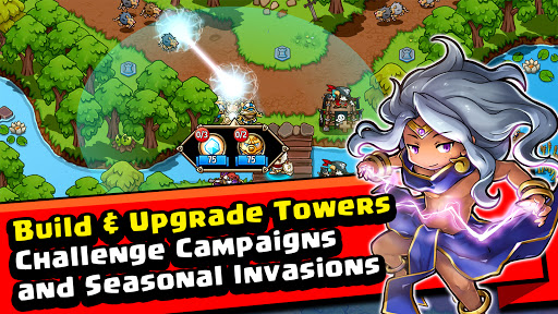 Crazy Defense Heroes: Tower Defense Strategy Game modiapk screenshots 1