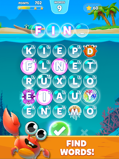 Bubble Words - Word Games Puzzle 1.4.0 Screenshots 9