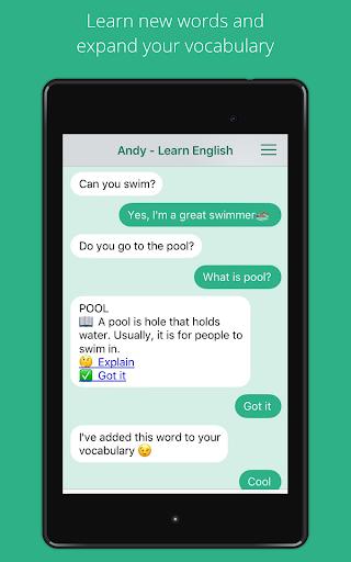 Andy - English Speaking Bot 2.8.2 Screenshots 9