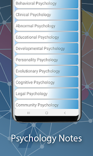 Psychology Dictionary Notes and  Self Assessment