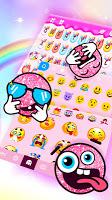 screenshot of Rainbow Unicorn Smile Keyboard Theme