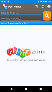 RhymeZone Rhyming Dictionary For Android 5