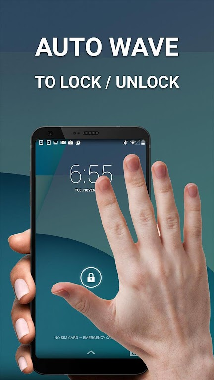 Screen On/Off With Double Tap,Shake,Gesture & Wave  poster 1