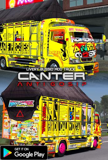 Livery Bussid Mod Truck Canter Anti Gosip  Screenshots 1