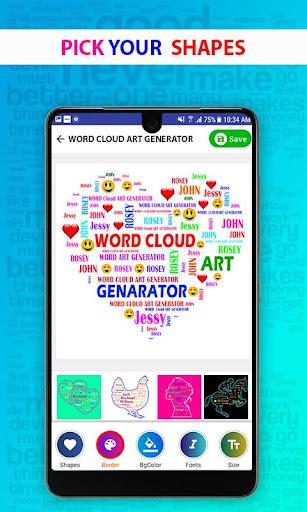 Word Cloud Art Generator  screenshots 1