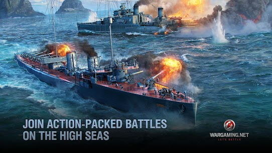Free World of Warships Blitz  Gunship Action War Game NEW 2021 **** 2