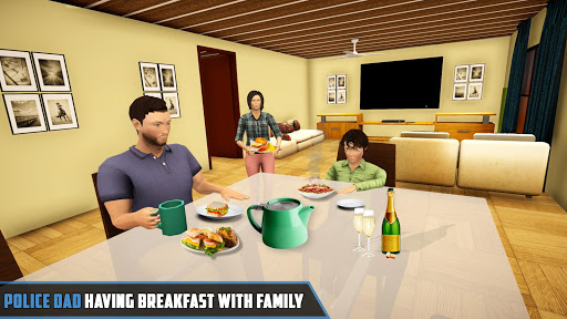 Virtual Police Family Game 2020 -New Virtual Games apkslow screenshots 6