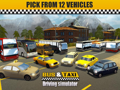 Bus & Taxi Driving Simulator  screenshots 15