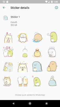 Sticker Sumikko Gurashi Terbaru forWAStickerAppsのおすすめ画像5