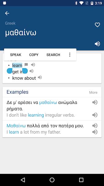 Greek English Dictionary & Translator Free