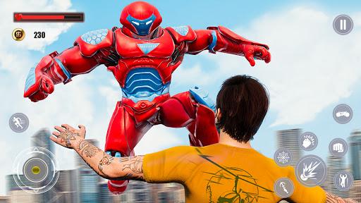 Flying Police Monster Robot Rope Hero: Crime City  screenshots 4