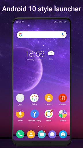 Cool Q Launcher for Androidu2122 10 launcher UI, theme 6.7 screenshots 1