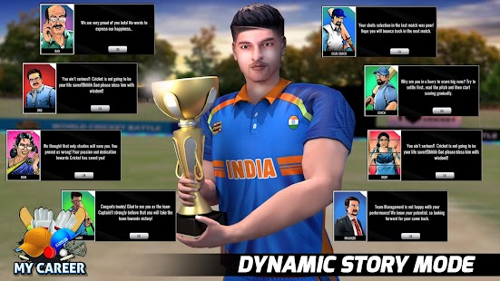 World Cricket Battle 2: Play Free My Career Games Screenshot